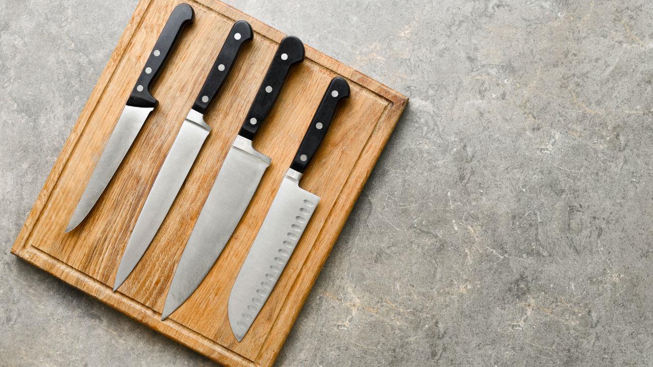 Four kitchen knives
