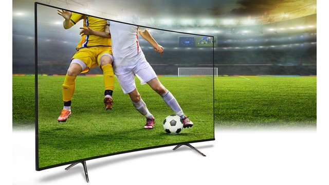 TV with soccer and background